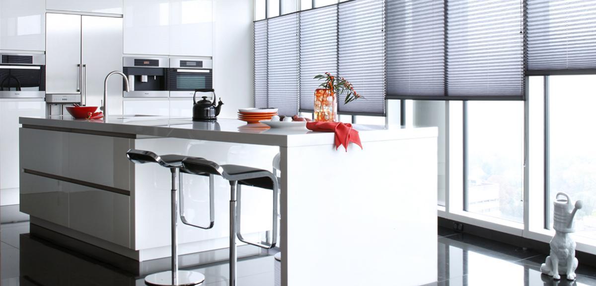 plissegardiner køkkenalrummet